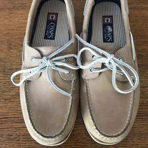 Men's Chaps Leather Boat Shoes